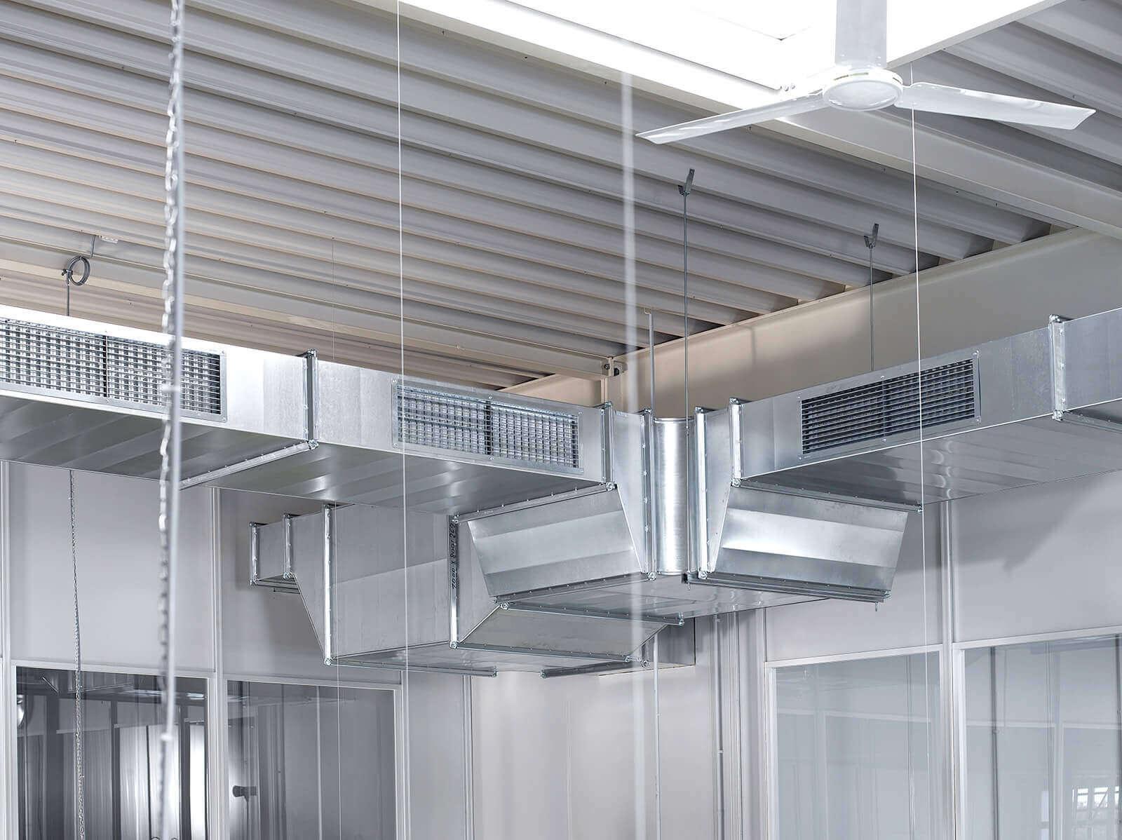 Industrielüftung und Prozesslufttechnik, etwa Kreislaufverbundsysteme