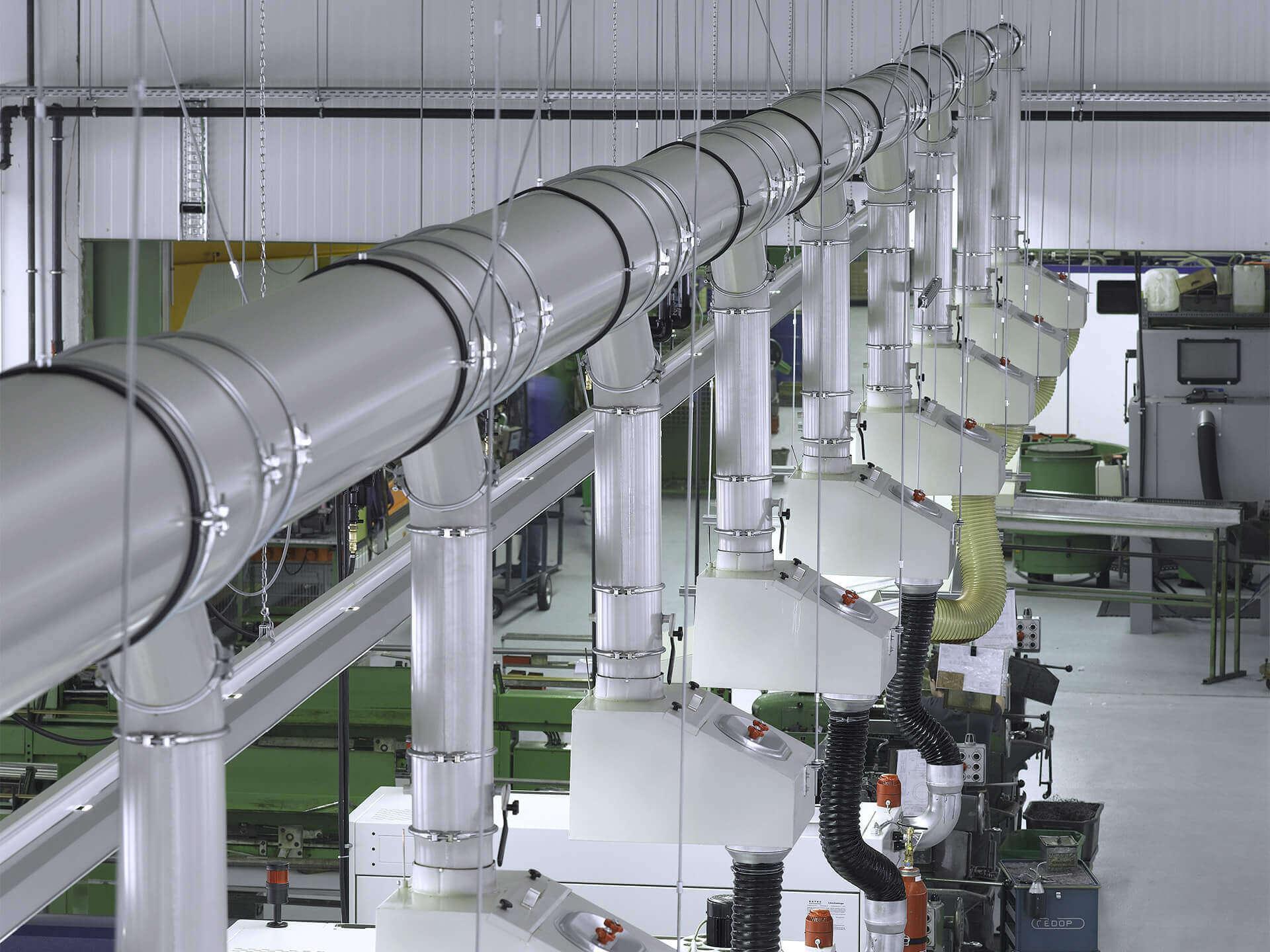 Rohrleitungssysteme und Lüftungskanäle von LKU Kessler